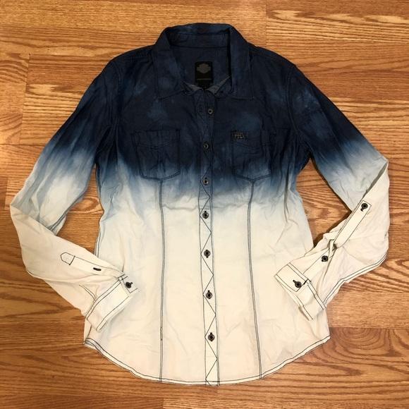e6d846fa Harley-Davidson Tops | Harley Davidson Long Sleeve Button Down Shirt ...